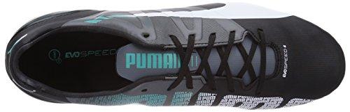 Puma Evospeed 4-3 Fg, Chaussures de football homme Viola (Violett (black-white-turbulence-pool green 03))