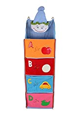 Baby Grow 4 Step Kids Toys Cloth Storage Hanging Rack Joker Face (BLUE)