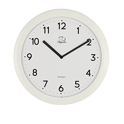 SMC 11-Zoll-Modern Bunte stilvolle Elegant Silent Nicht-Ticking Home Küche / Wohnzimmer Ultra Thin Wall Clock (Weiß) Silent Wall Clocks