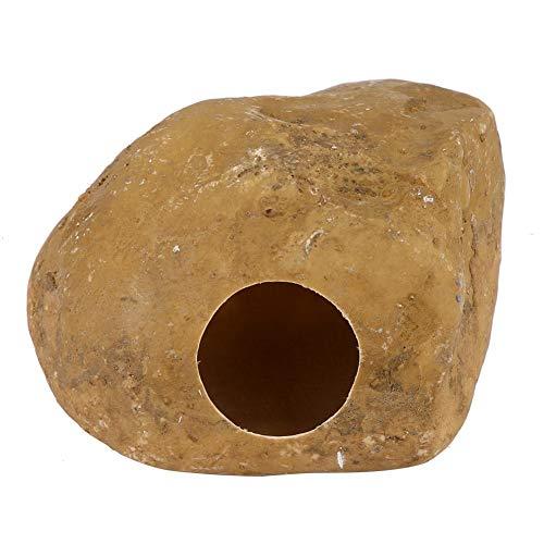 Semme Las Serpientes se esconden, el Reptil se esconde Gecko Cueva Lagarto Huevo Piedra Pequeños Animales para Serpientes Araña Hamster(Yellow)