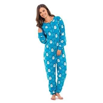pyjama grenouill re en polaire femme s m bleu v tements et accessoires. Black Bedroom Furniture Sets. Home Design Ideas