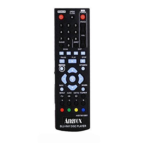 angrox AKB73615801Universal ersetzt Fernbedienung für LG Blu Ray Controller DVD player Disc BP125BP200BP220bp220N bp320bp320N bp325W