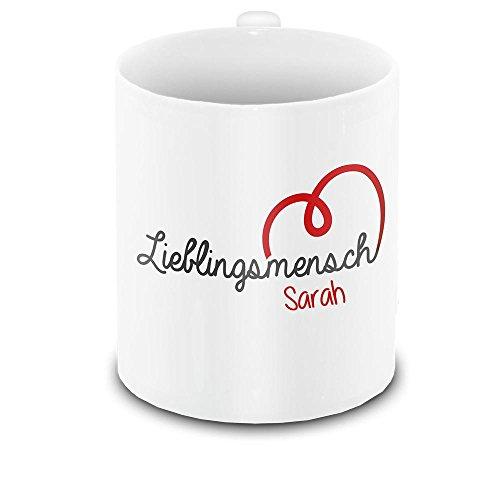 Lieblingsmensch-Tasse mit Namen Sarah und schönem Motiv zum Valentinstag - Liebestasse Keramiktasse Freundschafts-Tasse 11