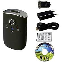 GT-750FL Bluetooth GPS Datenlogger + Netzteil 100-240V USB GPS Empfänger Fototagger Tracker Data Logger Receiver Maus GT-750
