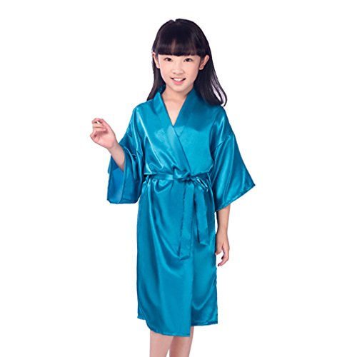 Juleya Kids Robe Satin Children Kimono Robes Vestido