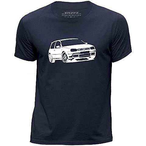 STUFF4 Chicos/Edad de 5-6 (110-116cm)/Azul Marino/Cuello redondo de la camiseta/Plantilla Coche Arte / VW Golf GTI Mk4