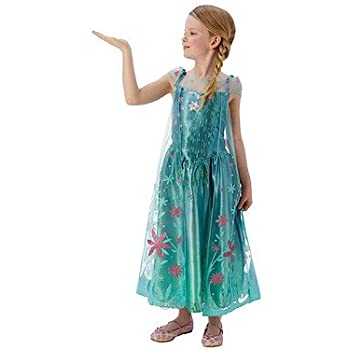 aeaeb7faf716e Elsa -Disney Frozen Fever - Childrens Fancy Dress Costume - Medium - 116cm  - Age