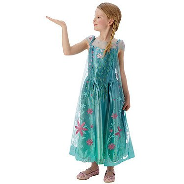 stüm für Mädchen (Elsa Frozen Kostüm Fever)
