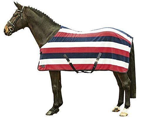 HKM 550820 Abschwitzdecke fashion stripes mit Kreuzgurt, XL