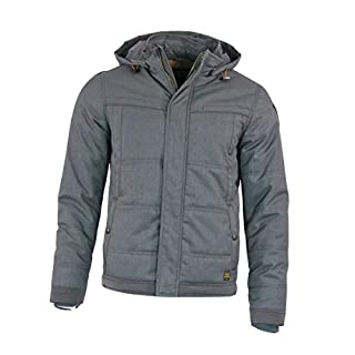 PME Legend Avis Herren Winterjacke Daunenjacke Grau Jacke für Männer, Größe:M