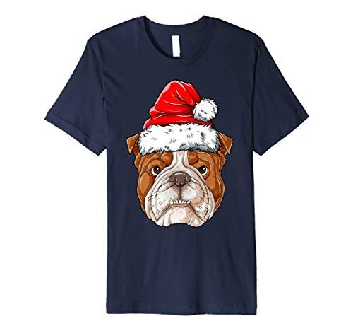 Englische Bulldogge Weihnachtsmann T shirt Weihnachten - Weihnachtsmann Kostüm T Shirt