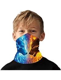 Funnycokid - Pañuelo para niñas con diseño de cinta para el cuello y la cara, multifuncional, sin costuras, diseño 3D, transpirable, pasamontañas UPF 50+ UV