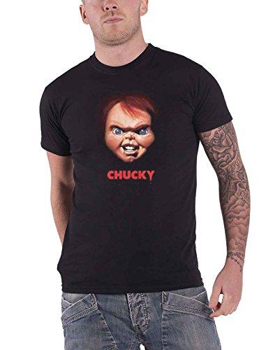 Childs Play T Shirt Chucky Face Movie Logo Nue offiziell Herren