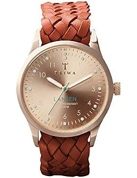 TRIWA Rose Lansen Armbanduhr braun/roségoldfarben LAST101_MB010214