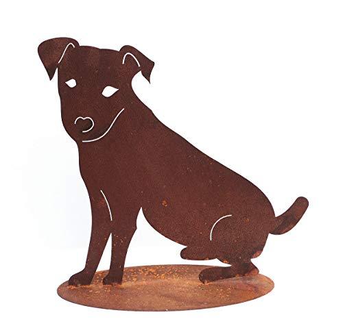 Hund Jack Russell Terrier Edelrost Rost Gartendekoration Hunde Metall Tier + Original Pflegeanleitung von Steinfigurenwelt