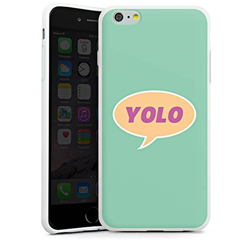 Apple iPhone X Silikon Hülle Case Schutzhülle YOLO Sprechblase Statement Silikon Case weiß