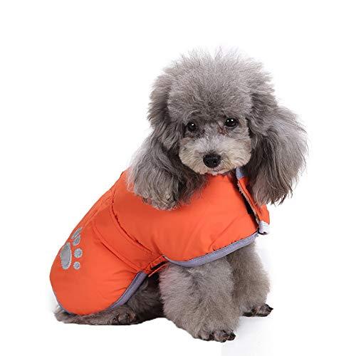 Timogee Kleiner Hund Katze Fleece Gefütterte Jacke Winter Weste Coat Bekleidung (Orange,XXX-Large)