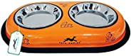 Pets Empire Cat and Puppy Double Dinner bowl 200 X 2 ML( Color May Vary )