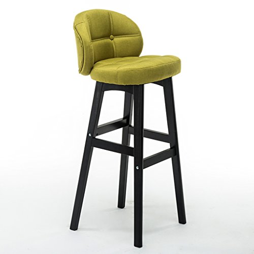 Guo shop- Simple, bois massif, coussins de lin bar réception européenne chaise en bois Vintage tabourets de bar hauteur 78 cm Bonne chaise (Couleur : C)