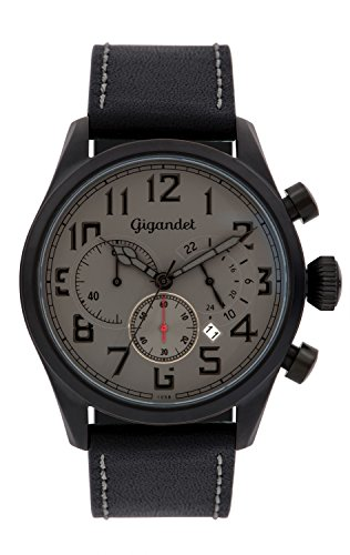 Gigandet Interceptor Men's Analogue Chronograph Quartz Watch Grey Black G4-006