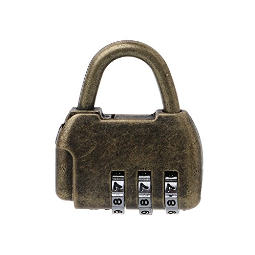 Manyo Chinesische Vintage Vorhängeschloss- Passwortsperre, 2 Stile für die Auswahl, spezielles Design, ideal für Tür, Schmuckschatulle und andere Box. (A)