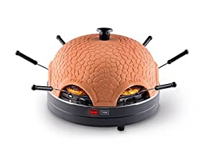 Trebs 99300 Pizzaofen mit Terrakottakuppel für 6 Personen, Pizzadom, 1000 Watt, Zubereitung in nur 5 – 7 Minuten