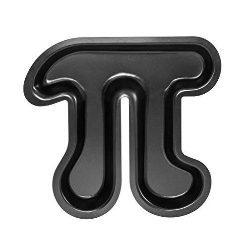 getDigital Pi Kuchenform - Metall-Backform mit Antihaft-Beschichtung für Nerds, Naturwissenschaftler und Mathe Geeks in Form des Symbols der Kreiszahl Pi - Kuchen Backform - Pi-pie Dish