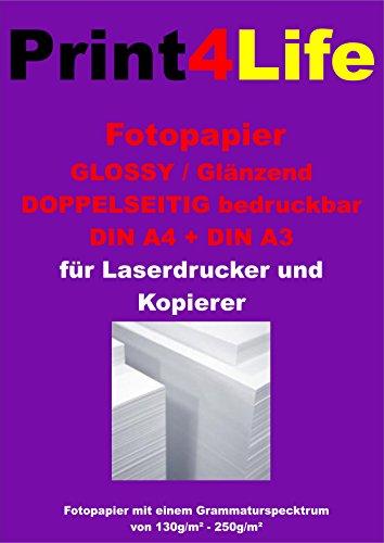 100 hojas A4 200g / m² papel fotográfico CARA impresoras