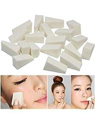 VWH 24Pcs/Set Sponges Puff Wedges White Triangle Shape Foundation Beauty Tools
