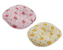 Aarushi Baby Pillows Round Shape for Infant Soft Sleep Pillows Pack of 2