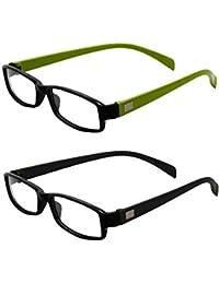 e2a3c94b9fb MagJons Green   Black Rectangle Unisex spectacles eye wear frame - Combo ...
