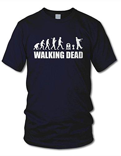 shirtloge - EVOLUTION WALKING DEAD - KULT - Fun T-Shirt - in verschiedenen Farben & Größe Navy
