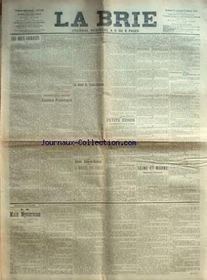 BRIE (LA) [No 3154] du 13/02/1914 - LES DEUX COURA...