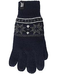 Heat Holders Mens 1 Pair 2.3 Tog Fairisle Gloves In Navy