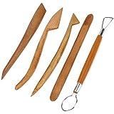DN 8 pulgadas de arcilla Madera Cerámica Escultura Cerámica Herramientas Set Paquete De 5
