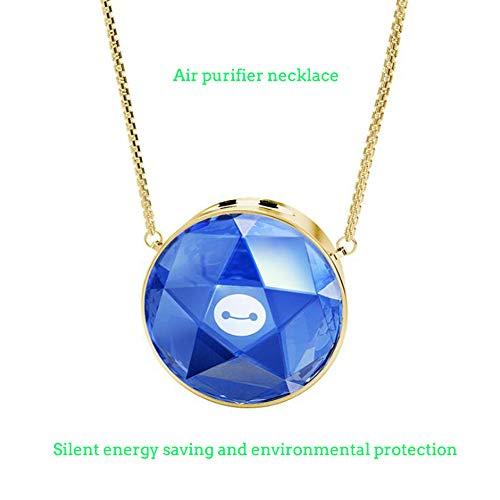 CHESUN Ionic Persönliche Kristall Halskette Lufterfrischer Entfernen Rauch Schutz Ausrüstung Mini Persönliche Luftreiniger,Blue - Rauch Entfernen Luftreiniger