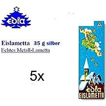 30 Fäden Brillant Eislametta silber Stanniollametta 10gr
