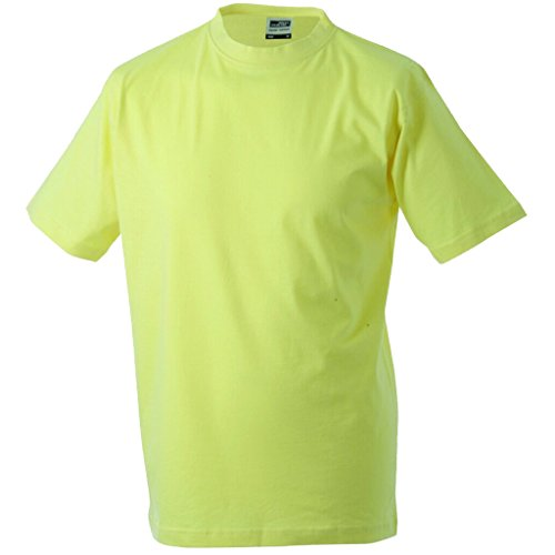 JAMES & NICHOLSON T-shirt comfort in single jersey 180g light-yellow