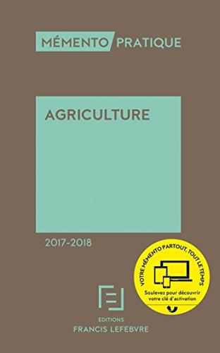 MEMENTO AGRICULTURE 2017-2018