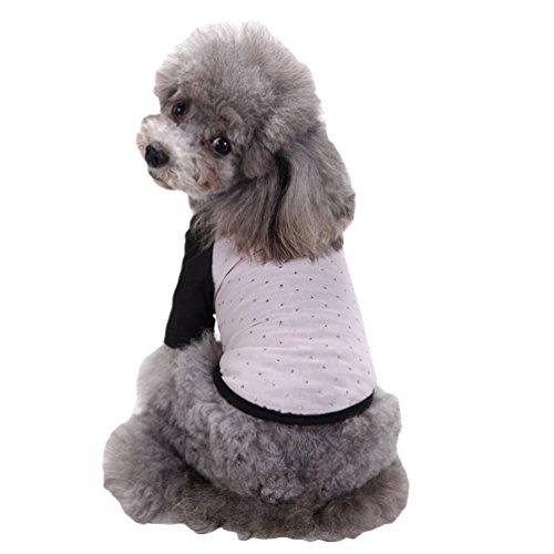 YiJee Welpen Kleidung Haustier Tops T-Shirts Kleine Hunde Weste T-Shirt Pink XL