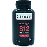 Vitamina B12 Metilcobalamina 1000 µg, 200 Comprimidos | Ayuda a los sistemas nervioso, inmunológico, energético.