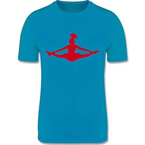 Sport Kind - Cheerleading - 140 (9-11 Jahre) - Himmelblau - F350K - atmungsaktives Laufshirt/Funktionsshirt für Mädchen und Jungen