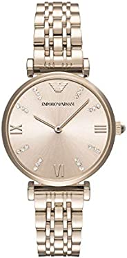 Emporio Armani Women's Analog Quartz Watch With Stainless-Steel Strap Ar11059, Pink