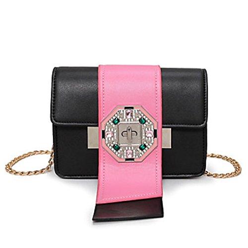 DFUCF Damen PU Büro Umhängetasche Beruf Kuriertasche Handtasche Mode Lässig Robust Langlebig Draußen Blushing Pink