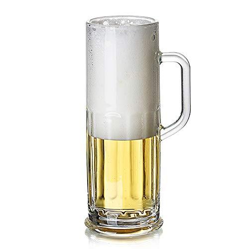 Jarra de Cerveza de Cristal sin Plomo, Jarra de Cerveza Creativa Engrosada | Cervezas clásicas, Jarras de Cerveza, Grandes como un Regalo de Cerveza