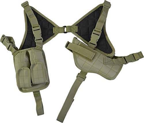 Pistolenholster Cordura Schulterholster verstellbar mit Magazintaschen OLIV