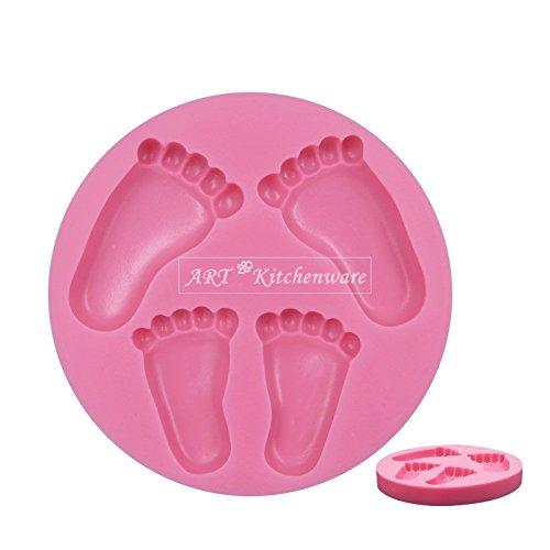 Füße Baby Dusche Taufe 3D Silikonform Fondant-Kuchen - Füße Silikonform