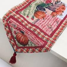 Halloween Pumpkin Cart Placemat Table Mat Tablecloth