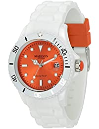 Madison New York Unisex-Armbanduhr Candy Time White Fashion Analog Quarz Silikon U4359F1