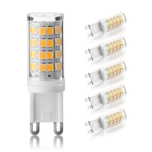Ascher 5er Pack G9 LED Lampe, Kein Flackern, (3W, Ersetzt 35W Halogen), 380LM, Warmweiß, G9 LED Leuchtmittel Birne